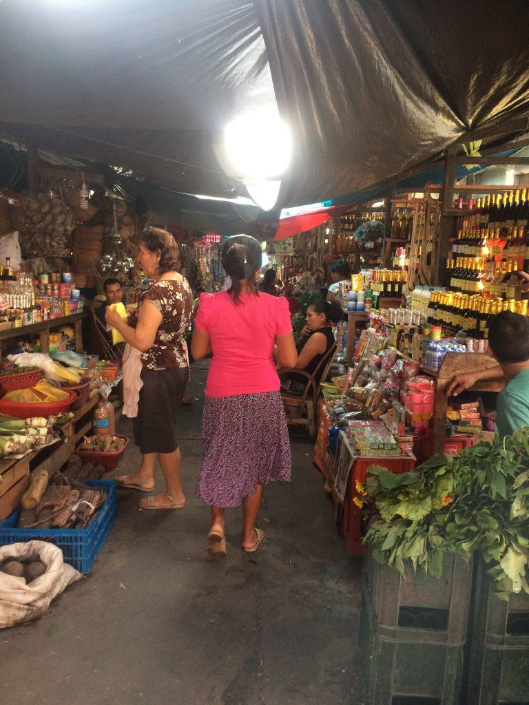 Tourist cafe, Iquitos, 2017. Iquitos is the location for a boom ayahuasca retreats and tourism.
