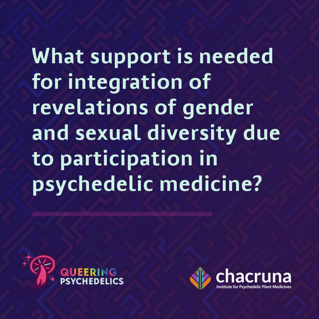 What support is needed for integration of revelations of gender and sexual diversity due to participation in psychedelic medicine?