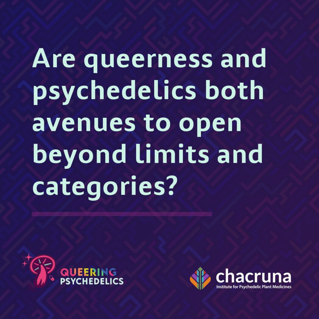 Are queerness and psychedelic both avenues to open beyond limits and categories?