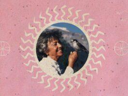 Nina Graboi holding a bird.